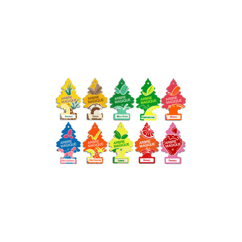 Deodorante per Auto Profumazione Vaniglia Arbre Magique 102876 Formato Multipack da 4 Pezzi