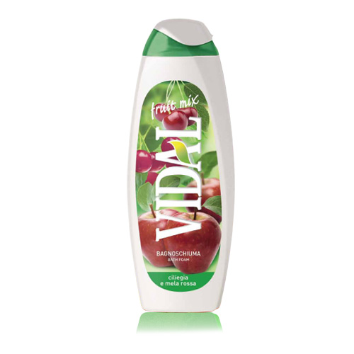 Vidal Fruit Mix Bagnoschiuma Ciliegia E Mela Rossa 500 Ml