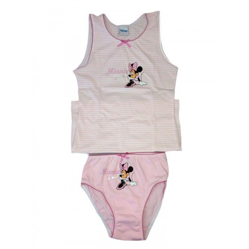 in cotone Biancheria intima per bambini e bambine Minnie rosa set da 2 pezzi con slip
