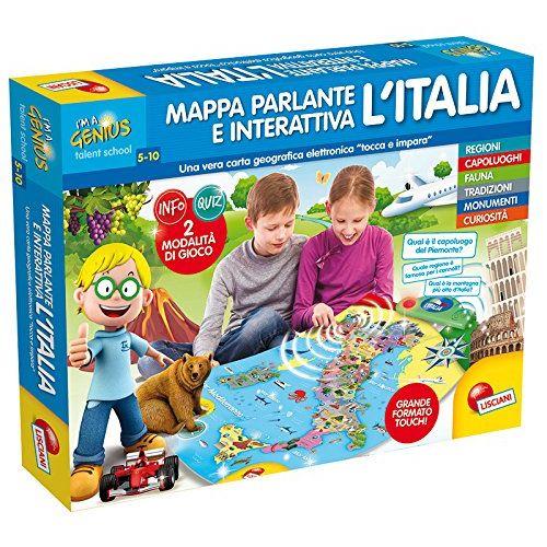 Cartina Italia Interattiva Html.Lisciani I M Genius Mappa Elettronica Interattiva Italia