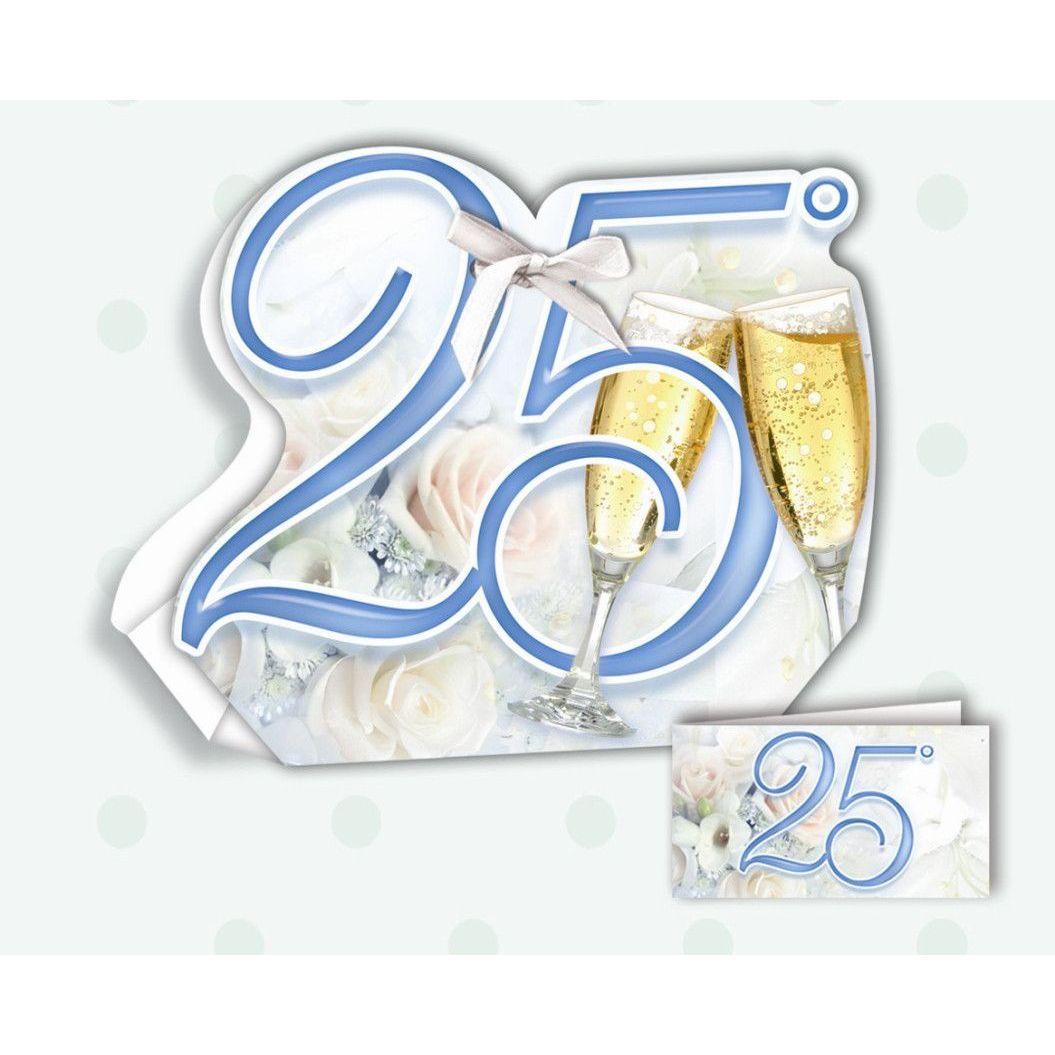 25 Matrimonio Anniversario.Confezione Portaconfetti Per Anniversario Di Matrimonio 25 Anni