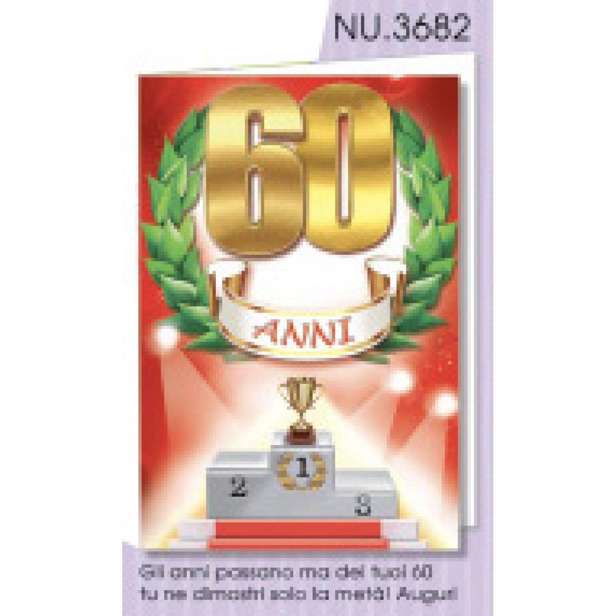 Gli Anni D Oro Biglietto Di Auguri Per Compleanno 60 Anni Nu3682 631