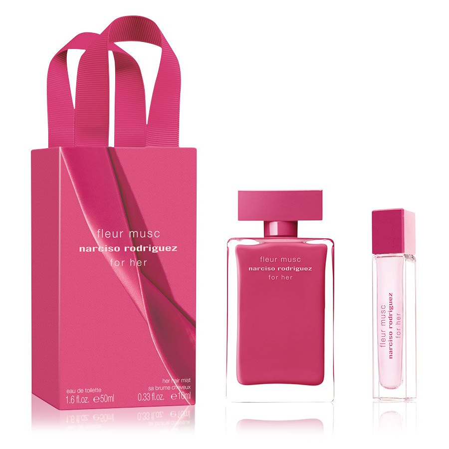 Narciso Rodriguez for her Fleur Musc 50 ml Eau de Parfum EDP + Narciso Rodriguez for her Fleur Musc Hair Mist 10 ml Profumo donna