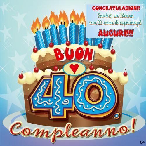 Biglietto Musicale Di Auguri Per Compleanno 40 Anni Hitmix 40 39386884