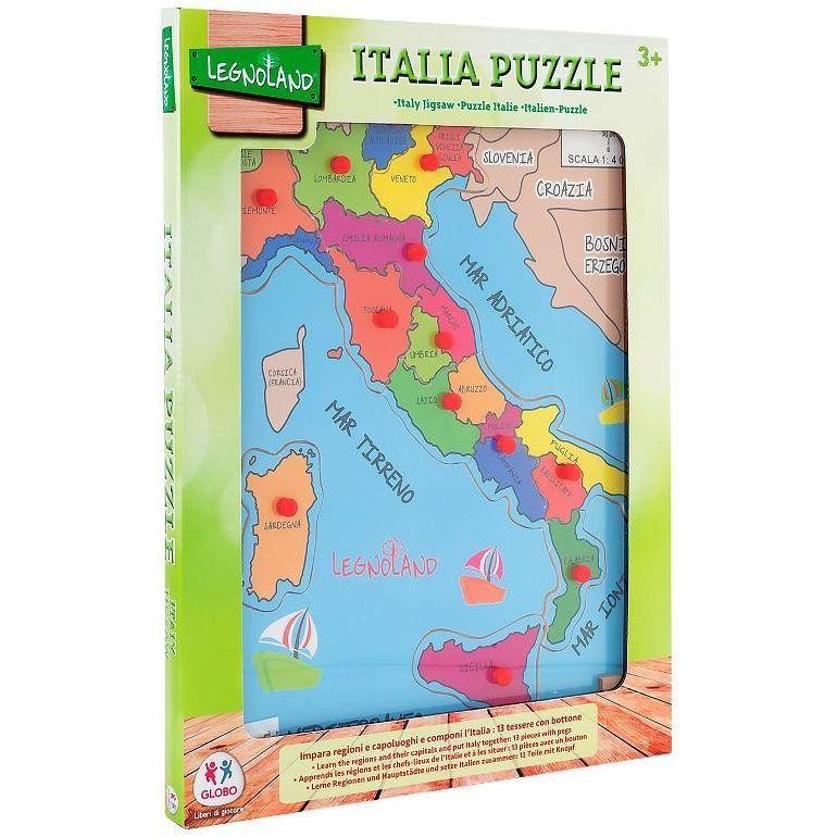Cartina D Italia Con Capoluoghi Di Regione.Globo Importazione Puzzle Italia A Pioli In Legno 30x40x0 8cm 36841 8014966368410